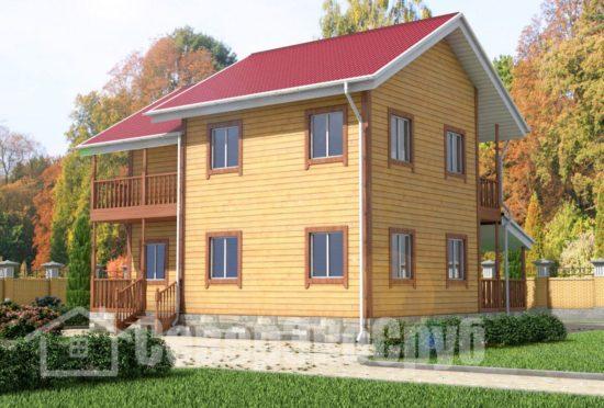 БД-58 Проект дома из бруса 7,5х10 Общий вид