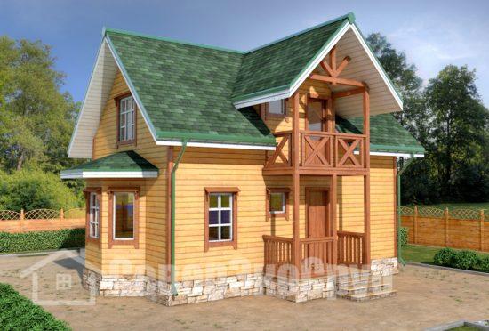 БД-62 Проект дома из бруса 7х10 Общий вид