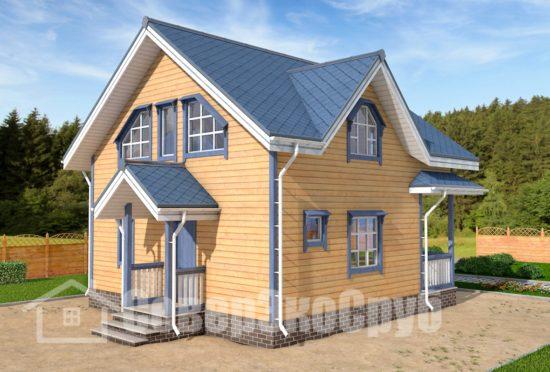 БД-63 Проект дома из бруса 8х8,5 Общий вид