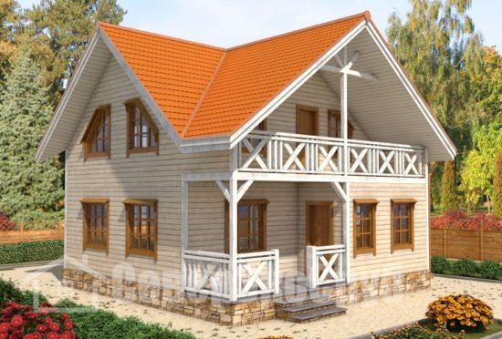 БД-64 Проект дома из бруса 9х9 Общий вид