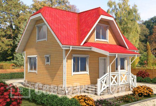 БД-69 Проект дома из бруса 7х9 Общий вид