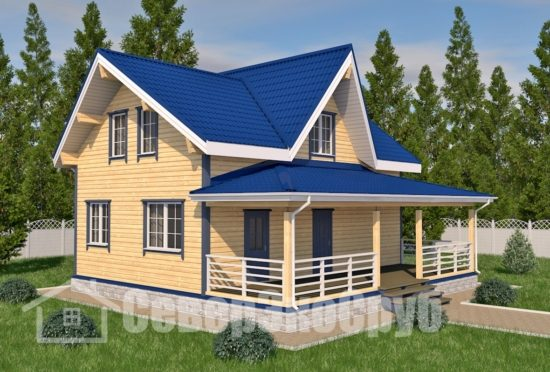 БД-84 Проект дома из бруса 10×11,5 Общий вид