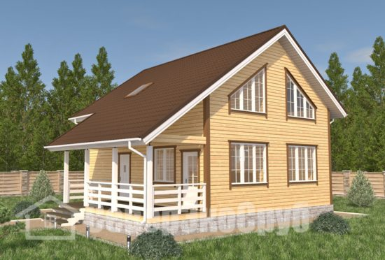 БД-94 Проект дома из бруса 9,5×10,5 Общий вид