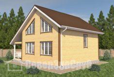 БД-94 Проект дома из бруса 9,5×10,5. Сзади слева