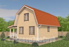 БД-99 Проект дома из бруса 6×9. Сзади слева