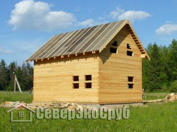 Строительство дома из обычного бруса 6х9 МО, Можайский р-н, д.Бурмакино