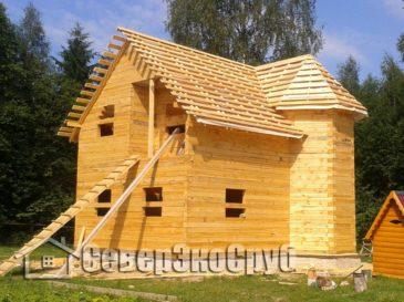 Фоторепортаж строительства дома из обычного бруса. Тверская обл., Зубцовский р-н