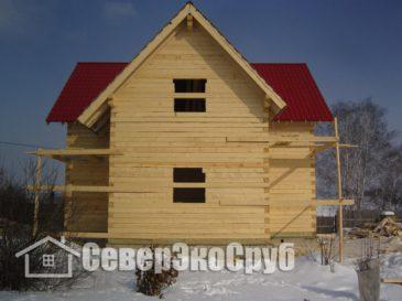 Фоторепортаж строительства дома 9*9 из обычного бруса. Тульская обл., г.Венёв
