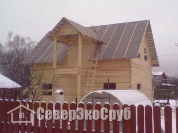 Фоторепортаж строительства дома из обычного бруса. Подольский р-н, г.Климовск