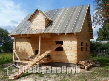 Строительство дома из бруса. Переславский р-н, д.Внуково