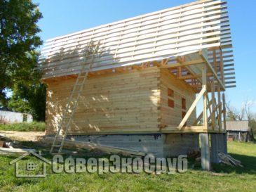 Строительство дома 7х9 из профилированного бруса. Тульская обл, Ефремовский р-н