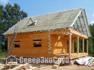 Строительство дома из профилированного бруса. Ярославская обл, Некоузский р-н, п.Борок.