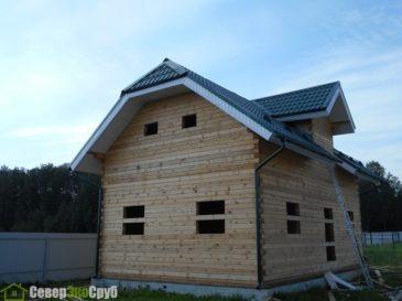 Фоторепортаж строительства дома из бруса по проекту БД-11 в Серпуховском районе