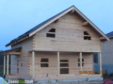 Фоторепортаж строительства дома из профилированного бруса, Московская область, Щелковский район, д. Душоново