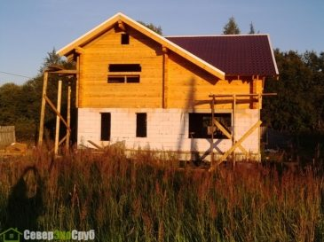 Фоторепортаж строительства дома из профилированного бруса д. Чернопенье, Костромская область