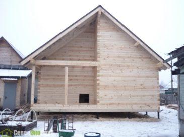 Фоторепортаж строительства дома из профилированного бруса по проекту БД-36 в г. Шатура, Московская область