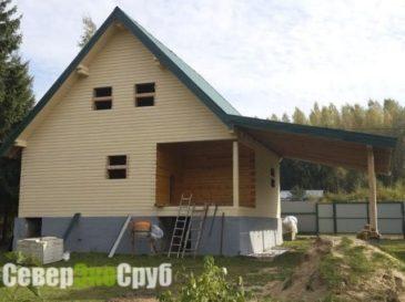 Фоторепортаж строительства дома из бруса по проекту БД-50. Киржачский район, Владимирская область