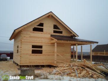 Фотоотчет строительства дома из профилированного бруса 145х145 в Тульской области