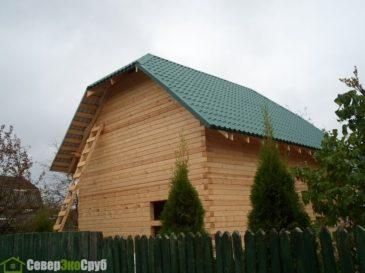 Фоторепортаж строительства дома из профилированного бруса по проекту БД-30 в Истринском районе, пос. Тучково