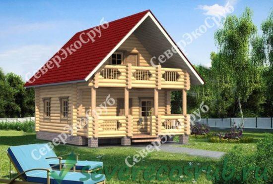 СД-3 Проект сруба дома 8х6 Общий вид