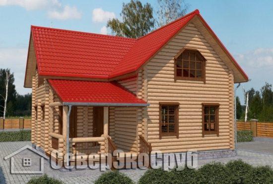 СД-8 Проект сруба дома 8х9 Общий вид