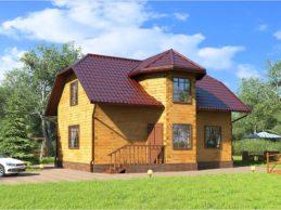Строительство домов из профлилированного бруса: выбор крыши