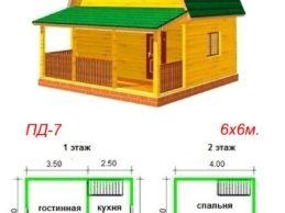 Проекты дачных домов из бруса — простой выбор!