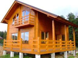 Дома из бруса под усадку: уход за деревянным домом