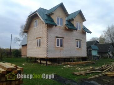 Дом 6×8 в Дмитровском районе, д. Антолопово