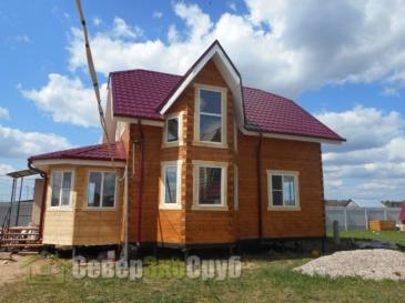 Дом БД-61 из проф. бруса 145х145 мм в деревне Дубининское (Сергиево-Посадский район)