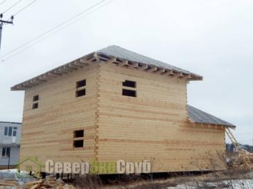 Строительство дома в г.Софьино Раменского района из проф. бруса 145*145