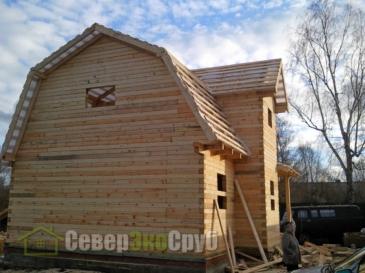 Дом по проекту БД-8 в Тульской области, г. Щёкино