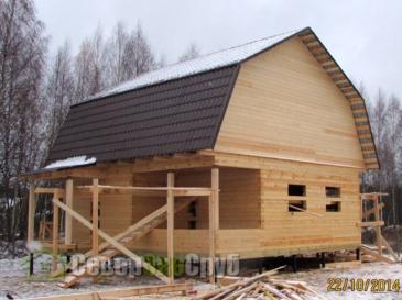 Дом из бруса в д. Новинки Дмитровского района