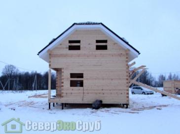 Фоторепортаж строительства дома из профилированного бруса 145*145 в Истринском районе, деревня Меры