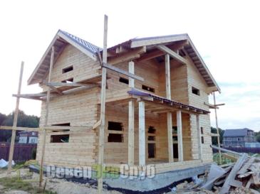 Дом по проекту БД-101 в Серпуховском р-не д. Шарапово
