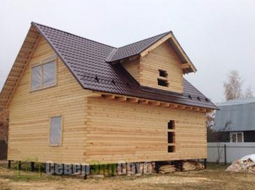 Фоторепортаж строительства дома из профилированного бруса по проекту БД-25, Рузский район, дер. Алексино, Московская область