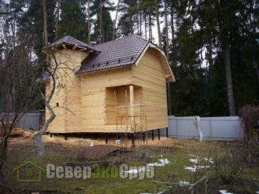 Фоторепортаж дома по проекту БД-14 из проф. бруса 145*145 в Ивантеевке
