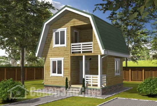 БД-126 Проект дома из бруса 6×6 Общий вид